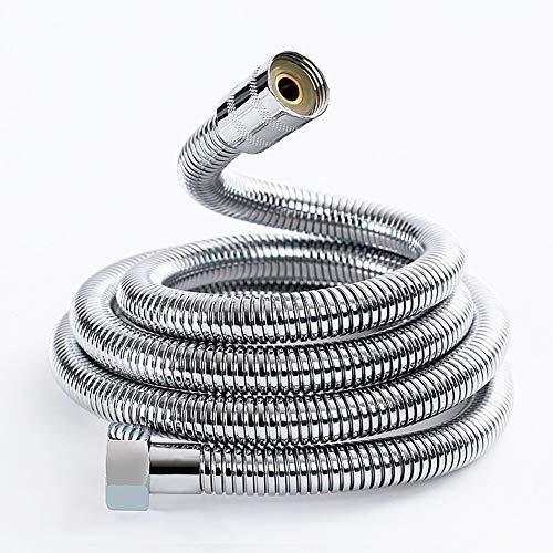 Joyoldelf Brauseschlauch, Universal Edelstahl Handheld Ersatz Dusche Schlauch duschschlauch mit Messing Beschläge, 2m (79