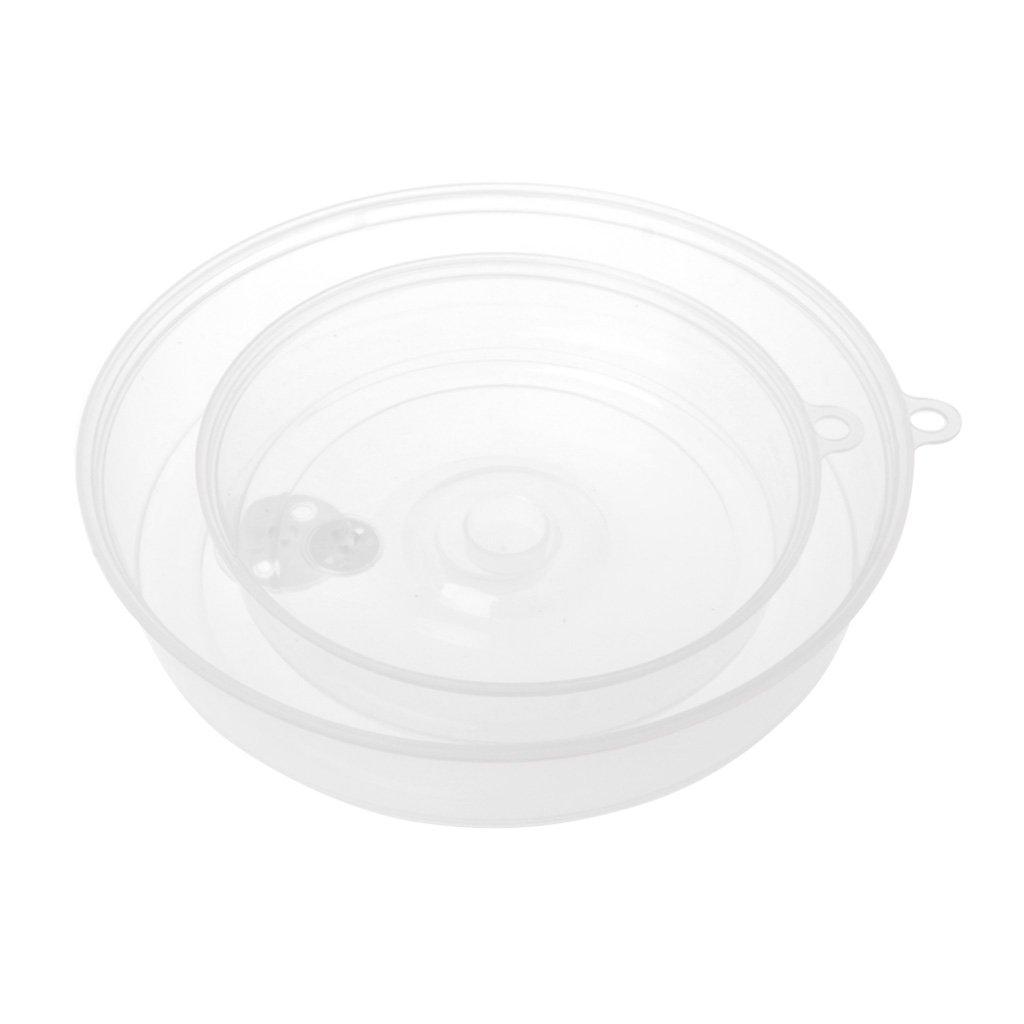 Xuniu Cubierta plástica de la Placa de la microonda, Herramientas claras de la Cocina del Plato de la Comida de la Tapa de la Salpicadura de la Salida del Vapor