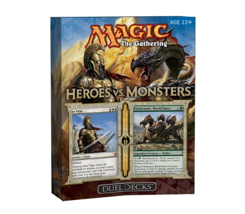 Wizard of the Coast 32706 - Magic the Gathering Dual Deck Heroes vs. Monster -