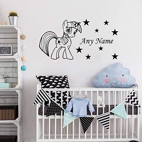 xingbu Stern personalisierte jeden Namen Vinyl Wandaufkleber Baby Aufkleber Wandbild W. 45x90cm