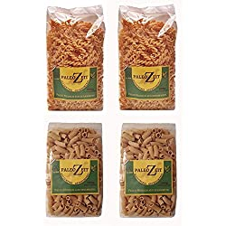 4x 250g PALEO Nudeln mit Sesammehl (2x Spiral - 2x Rigatoni) LOW CARB (Kohlenhydratenreduziert) Pasta GLUTENFREI Getreidefrei Gourmet Lebensmittel Delicatesse