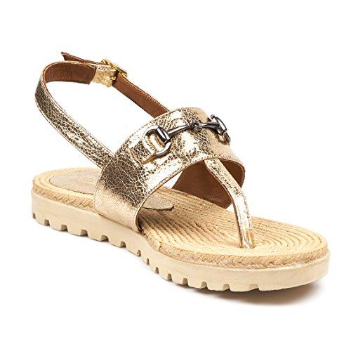 BOBERCK Leilani Collection Women's Flat Sandals Gold