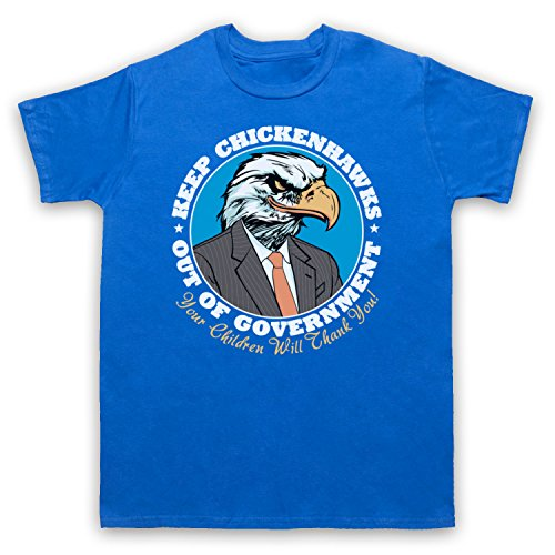 Keep Chickenhawks Out Of Government Political Slogan Herren T-Shirt Blau