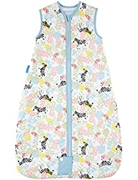 The Gro Company Zippy Zebras Travel Grobag Baby Sleeping Bag, 0-6 Months, 2.5 Tog