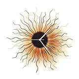 Medusa cobre - 41 cm reloj de pared de madera orgánico en tonos cobre.