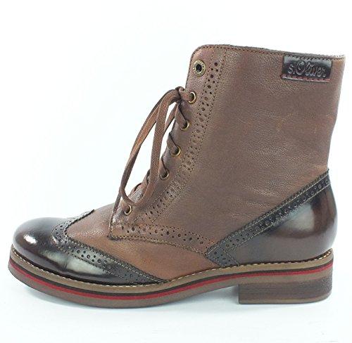 Stiefelette Cognac Leder S Boots 7133 oliver Cogac t7Tqqw