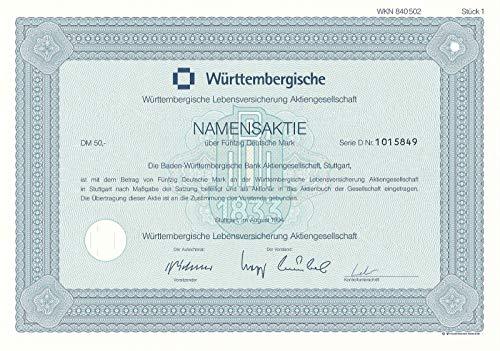 Historische Wertpapiere der Württembergische Lebensversicherung AG