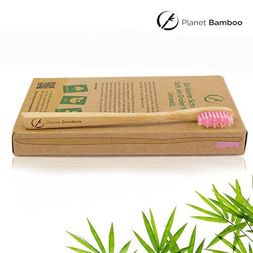 Planet Bamboo Bambus Zahnbürste für Kinder (4 Stück) - 5