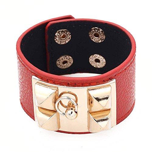 bracelet-cuir-manchette-fermoir-dore-kelly-en-cuir-rouge