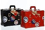 Keramik Spardose Koffer in versch. Farben, Farbe:rot
