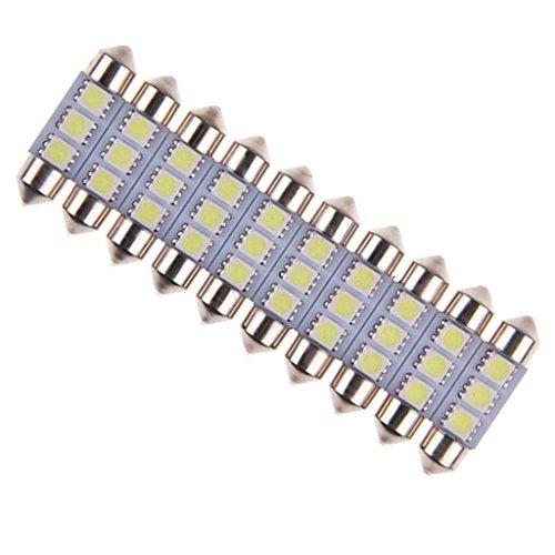Preisvergleich Produktbild MagiDeal 10pcs Weiße Rasierspiegel Leselicht Auto KFZ Lampe Licht Innenraumbeleuchtung 5050 3SMD Sunvisor Kosmetikspiegel LED-Licht