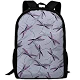 best& Vintage Dragonflies Insects College Laptop Backpack Student School Bookbag Rucksack Travel Daypack
