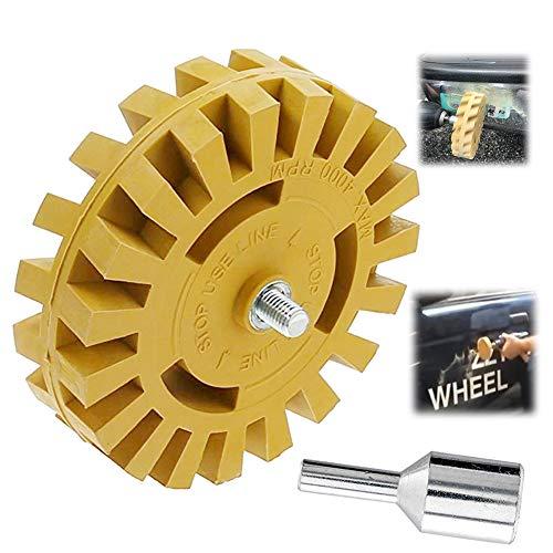 Schleifrad Radiergummi, Gummischleifscheiben 10 cm für Remover-Lackkleber