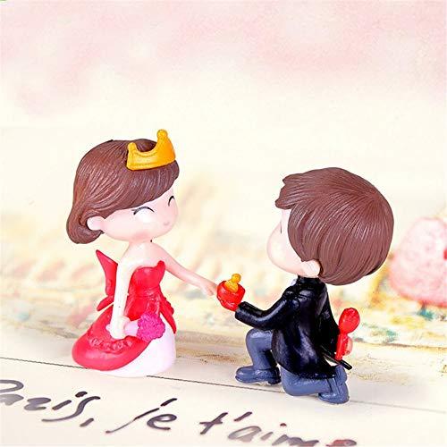 Märchengarten Miniaturen Ornamente PVC Cute Boy und Girl Lovers Kiss Hochzeit Puppen für Wohnkultur vorschlagen ()