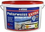 Polarweiss innen Wandfarbe weiss blauer Engel inkl. 4 x 5m Abdeckfolie (Polarweiss Extra 10 Liter)
