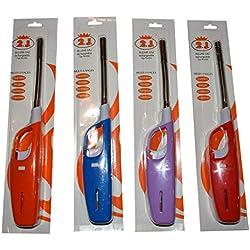 2J Briquet Long,Allume Gaz Rechargeable, Briquet electronique Tige Flexible De Marque Francaise Norme CE Longueur 27 x 4 x 2,7 cm