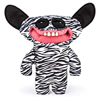 Fugglers, Funny Ugly Monster, 9 Inch Grin Grin (Zebra Print) Plush Creature with Teeth, for Ages 4 and Up