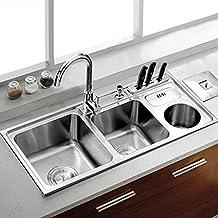 BBSLT Crossover di lusso con cestino può lavello in acciaio inox lavello cucina