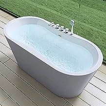MAI&MAI - Elegante Badewanne Vicenza602S, freistehend und weiß