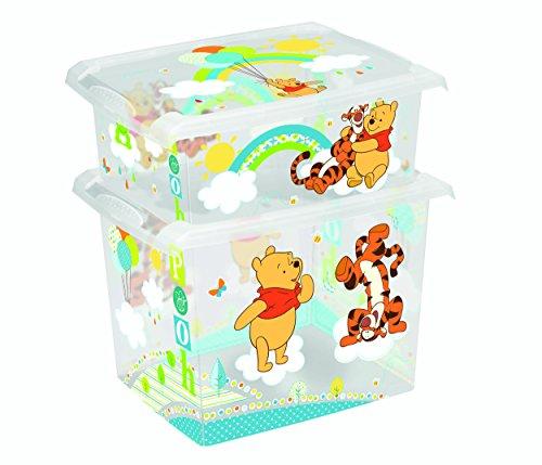 *2er Set Fashion Box Disney Winnie Pooh 20L + 10L Aufbewahrungsbox Spielzeugkiste*