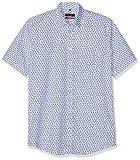 Seidensticker Modern Kurzarm Mit Verdecktem Button-Down Kragen Soft Floralem Druck Chemise Business, Bleu (Blau 17), 42 (Taille Fabricant: 40) Homme
