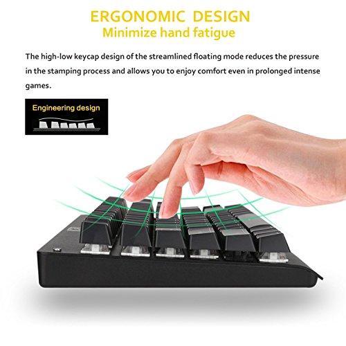 MJY Tkl Mechanische Tastatur Clicky Blauer Schalter Rgb Led Hintergrundbeleuchtung, Redragon Gaming Keyboard, 87 Tasten Anti-Ghosting mit Metalloberteil Us-Layout Tastatur für PC Gamer Typist K568 (S
