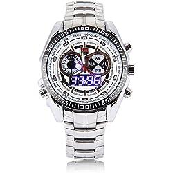 Watch - TVG Men Watch Wrist Watch Stainless Steel Quartz Watch Waterproof Sports Watch Chronograph