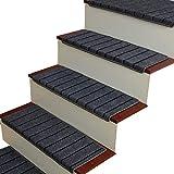 BSNOWF Teppich Treppenstufen-Treppenstufen-Teppiche Teppichboden für Hartbodentreppe Maschinenwaschbar (Farbe : 10 Piece, größe : 75 * 24cm+3cm)
