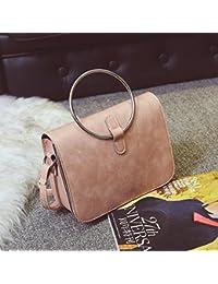 Sacs à main en diagonale de l'épaule sac à main mesdames couleur hit Korean fashion petit sac à bandoulière diagonale paquet carré, rose