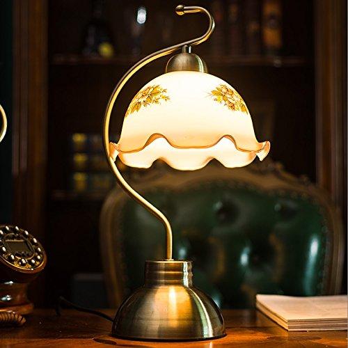dormitorio-de-estudio-de-la-cama-de-vidrio-lampshade-lampara-de-mesa-decorativa