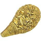 Jharokha Handicraft Brass Shell (14 Cm X 15 Cm X 11 Cm, Gold)