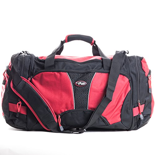 calpak-field-pak-20-inch-travel-carry-on-duffel-bag-black-red-one-size