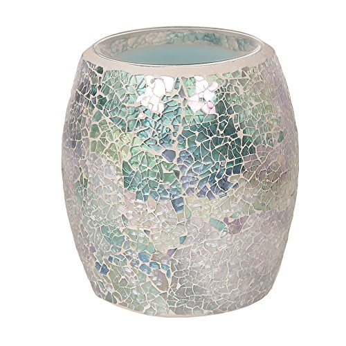Astin of London - Aroma Accessories Electric Wax Tart Melt Burner Lamp Iridescent Blue Crackle Scented Fragrance Aroma Warmer - Hand Crafted