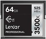Lexar Professional CFast 2.0 - Tarjeta de memoria CompactFlash de 64 GB (3500x, 525 MB/s)