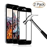 Panzerglas Schutzfolie für iPhone 6 6s, 2 Stück Ultra-klar 3D Vollständige Abdeckung 9H Härtegrad 4,7 Zoll 3D Panzerglasfolie Displayschutzfolie für iPhone 6 6s (Schwarz)