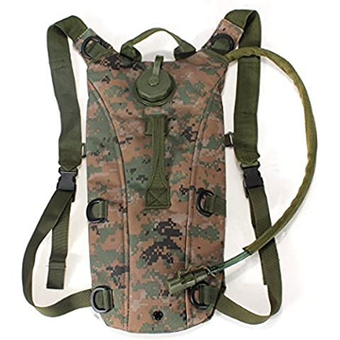 SaySure - Tactical Military nylon Backpack with 3L TPU Hydration