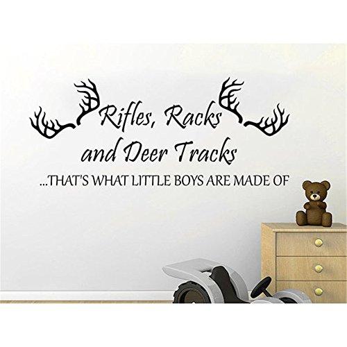 Wandtattoo Kinderzimmer Wandtattoo Wohnzimmer Gewehre Racks und Deer Tracks Phrase Home Decor Kinderzimmer Schlafzimmer -