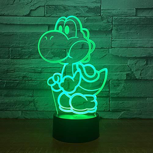 für Kinder 3d Illusion Nachtlicht / 3d optische Täuschung Tisch Schreibtischlampe / 7 / Weihnachten Halloween Geburtstagsgeschenk/Yoshi Mario ()