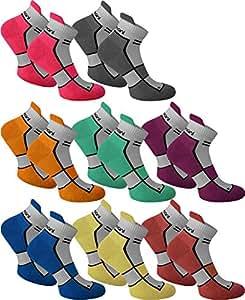 4 Paar Herren Sneaker Spezial Lauf Socken for Men Highest Standard! Farbe Hibiscus Größe 4 Paar 35/38