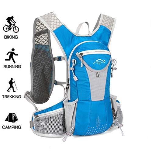 WUZHENG Radfahren Rucksack Radfahren Rucksack Reiten Rucksack Fahrrad Rucksack Outdoor Sports Daypack für Laufen Wandern Camping Reisen Ultraleicht Männer Frauen 12L,Blue