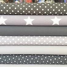 Always Knitting and Sewing Fat Quarter Bundles Basics Range - 100% Cotton Fabric grey basics