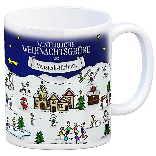 trendaffe - Henstedt-Ulzburg Weihnachten Kaffeebecher mit winterlichen Weihnachtsgrüßen - Tasse, Weihnachtsmarkt, Weihnachten, Rentier, Geschenkidee, Geschenk