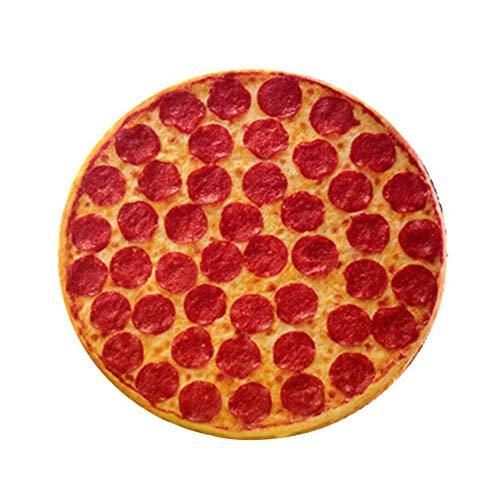 Almohada de cojín de cojines de estilo de pizza de simulación redonda Almohada de siesta de oficina, cojín Almohada en forma de pizza de simulación 3D para cojines de sofá Decorativos para el hogar