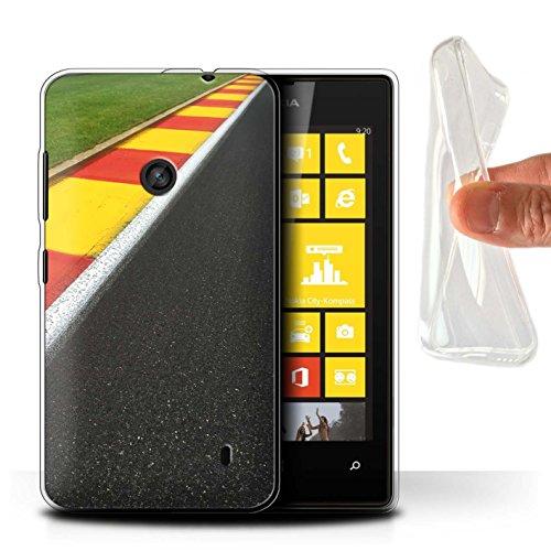 Stuff4® Gel TPU Hülle/Case für Nokia Lumia 520 / Apex/Schikane Muster/Rennstrecke Foto Kollektion