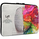 iCasso New Art Image Soft Neoprene 13-inch Laptop Notebook Computer MacBook Air MacBook Pro Sleeve Case Bag Cover Left and Right Brain
