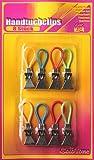 8 Handtuchclips Metall,Aufhänge-Clips,Haushaltshelfer hi371