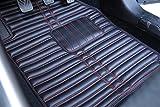 #9: FRONTLINE Anti Skid Sports Series Car Foot Mats For New Maruti Swift 2018-Red Thread