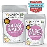 Detox Tee - 28 Tage Kur Teatox | Ultimativer Entgiftungstee ★ (Abnehmtee ★ Diättee ★Schlankheitstee ★ Grüner Tee ★ Verbrennt Fett) SOMATOX Weight Loss Tea - Herbal Tea Burn Fat - SOMATOXTEA