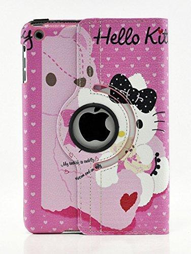 LiViTech iPad Air 2Hülle, Hello Kitty Design 360Grad Drehbar PU Leder Hard Case für Apple iPad Air 2 Color 5 9.4 x 7 x 0.8 inches (Hello Ipad Kitty Case 2 Hard)
