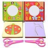 96 pages papier découpé couleur maternelle bricolage précoce éducatif kirigami coupe amusante ciseaux activité compétences livre jouets avec un enfant ciseaux de sécurité (lignes)